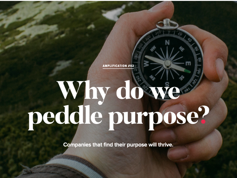 Why do we peddle purpose THUMB