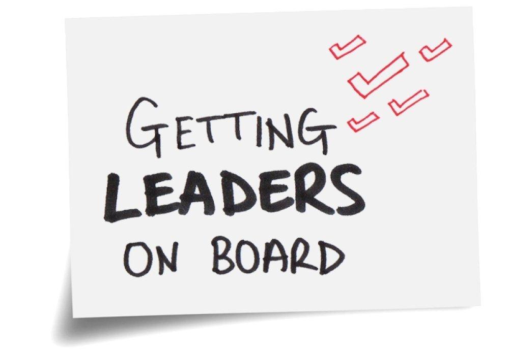 Getting leaders on board