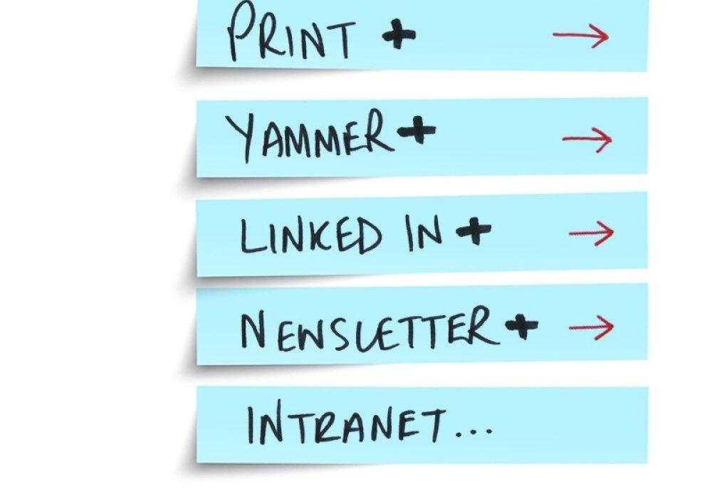 Print Yammer newsletter